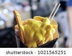 close up french fries cheese... | Shutterstock . vector #1021565251