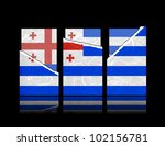 ajaria flag of tear paper with... | Shutterstock . vector #102156781