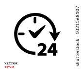 open 24 hours vector icon   Shutterstock .eps vector #1021568107