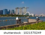 marina bay singapore asia...   Shutterstock . vector #1021570249