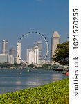 marina bay singapore asia...   Shutterstock . vector #1021570255