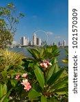 marina bay singapore asia...   Shutterstock . vector #1021570309