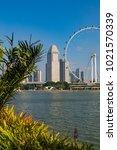 marina bay singapore asia...   Shutterstock . vector #1021570339