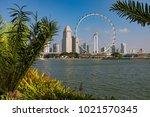 marina bay singapore asia...   Shutterstock . vector #1021570345