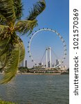 marina bay singapore asia...   Shutterstock . vector #1021570369