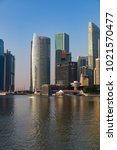 marina bay singapore asia... | Shutterstock . vector #1021570477