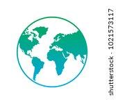 earth planet world globe map... | Shutterstock .eps vector #1021573117