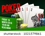 illustration online poker... | Shutterstock .eps vector #1021579861