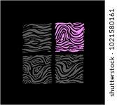 zebra print   hand drawn... | Shutterstock .eps vector #1021580161