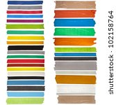 collection set of colorful...   Shutterstock . vector #102158764
