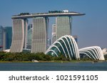 marina bay singapore asia...   Shutterstock . vector #1021591105