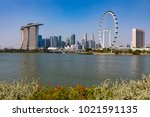 marina bay singapore asia...   Shutterstock . vector #1021591135