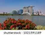 marina bay singapore asia...   Shutterstock . vector #1021591189