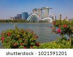 marina bay singapore asia...   Shutterstock . vector #1021591201
