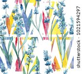 wildflower lavender flower...   Shutterstock . vector #1021594297