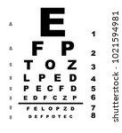 a typical opticians eye test...   Shutterstock . vector #1021594981