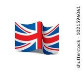 flag of the united kingdom ... | Shutterstock .eps vector #1021596061