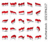 Indonesia Flag  Vector...