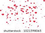red and pink heart. valentine's ... | Shutterstock . vector #1021598065