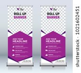 roll up banner design template  ... | Shutterstock .eps vector #1021602451