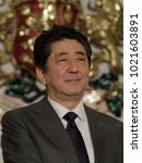 Small photo of Japanese prime minister Shinzo Abe smiles during his visit to Bulgarian capital Sofia , Sunday, Jan. 14, 2018.