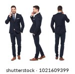 young caucasian businessman... | Shutterstock . vector #1021609399