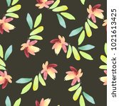 seamless watercolor pattern... | Shutterstock . vector #1021613425