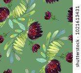seamless watercolor pattern... | Shutterstock . vector #1021613431