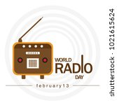 world radio day. radio icon... | Shutterstock .eps vector #1021615624