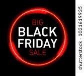 black friday words in neon... | Shutterstock .eps vector #1021619935