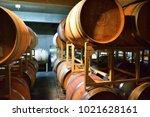 wine brewery barrel | Shutterstock . vector #1021628161