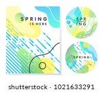 unique artistic spring cards... | Shutterstock .eps vector #1021633291