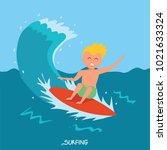 surfing  surfboard character... | Shutterstock .eps vector #1021633324