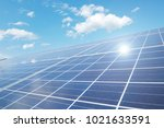 close up of the solar panels   Shutterstock . vector #1021633591