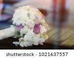 wedding bouquet of flowers | Shutterstock . vector #1021637557