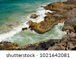 rocky coastline at dolphin... | Shutterstock . vector #1021642081