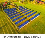 aerial view of solar power... | Shutterstock . vector #1021650427