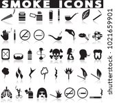 smoking icon set. | Shutterstock .eps vector #1021659901