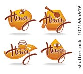 natural  honey  sticker  symbol ...   Shutterstock .eps vector #1021665649