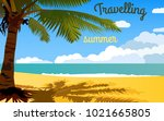 traveling illustration for real ... | Shutterstock .eps vector #1021665805