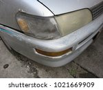 Small photo of Damage Headlamp and abrasive car color