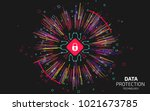 data security visualization.... | Shutterstock .eps vector #1021673785