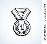 contest leader medalist... | Shutterstock .eps vector #1021678795