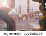 madinah  saudi arabia september ... | Shutterstock . vector #1021680235