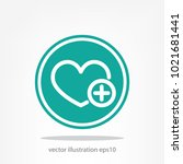 heart  plus sign  icon  vector...