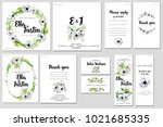 card templates set with... | Shutterstock . vector #1021685335