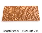 the back of a chocolate bar on... | Shutterstock . vector #1021685941