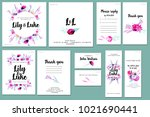 card templates set with... | Shutterstock . vector #1021690441