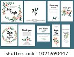 card templates set with... | Shutterstock . vector #1021690447