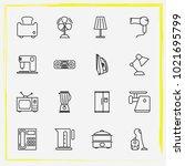 home appliances line icon set...   Shutterstock .eps vector #1021695799